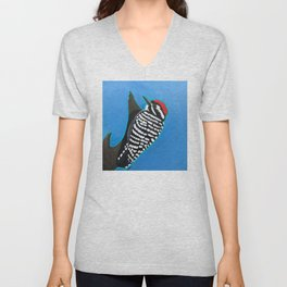 Ladder-Backed Woodpecker Unisex V-Neck
