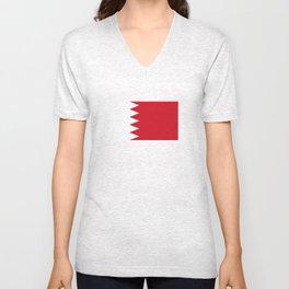 bahrain country flag Unisex V-Neck