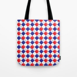 Stars and Stripes Plaid  Tote Bag