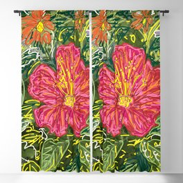 New Hibiscus Blackout Curtain