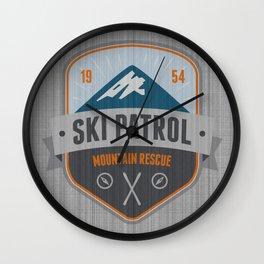 Ski Patrol Wall Clock