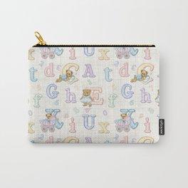 Teddy Bear Alphabet ABC's Carry-All Pouch