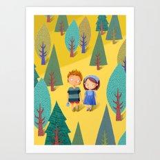 Hansel & Gretel Art Print