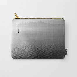 black and whit sail water Carry-All Pouch