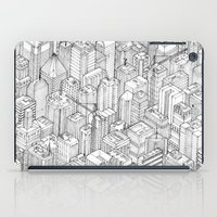 large iPad Cases featuring Isometric Urbanism pt.1 by Herds of Birds