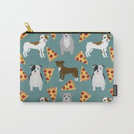 Pitbull pizza dog breed pet pattern pibble dog mom Carry-All Pouch