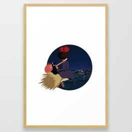 Witch at Night Framed Art Print