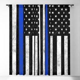 Thin Blue Line Blackout Curtain