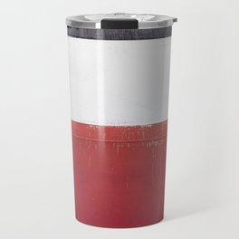 Black White Red 01 Travel Mug