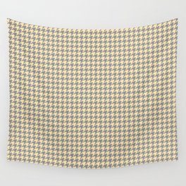 Grey Beige Houndstooth Pattern Wall Tapestry