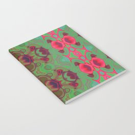 Pink and green marble Notebook