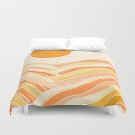 Golden Mountain Sunset Duvet Cover