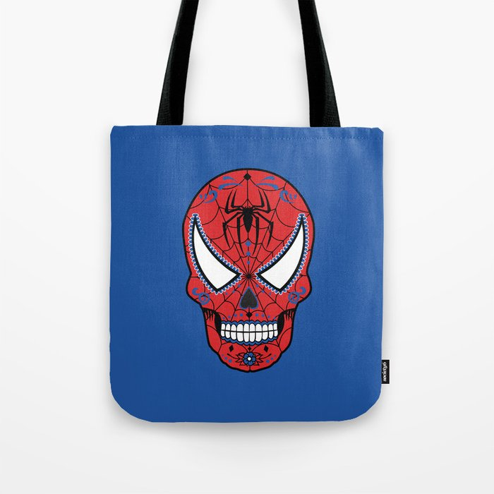 Spidey Sugar Skull Tote Bag