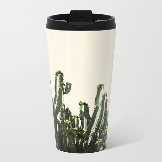 cactus nature VI Metal Travel Mug