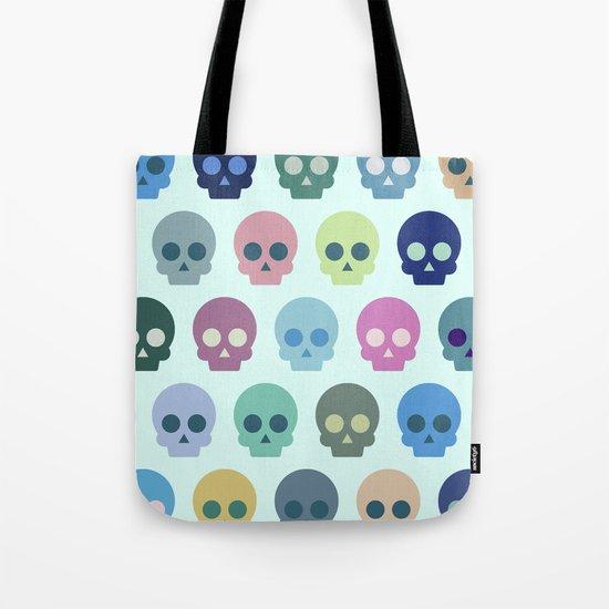 Colorful Skull Cute Pattern Tote Bag