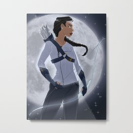 Artemis, Goddess of the Moon Metal Print