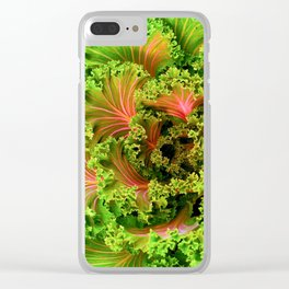 When purple turns green Clear iPhone Case