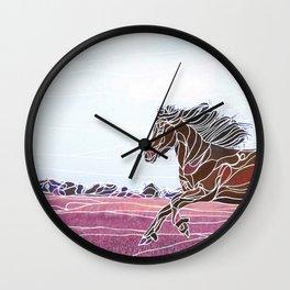 Wild Horse 1 Wall Clock