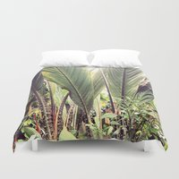 botanical Duvet Covers featuring Botanical by Fig and Berry Clothing
