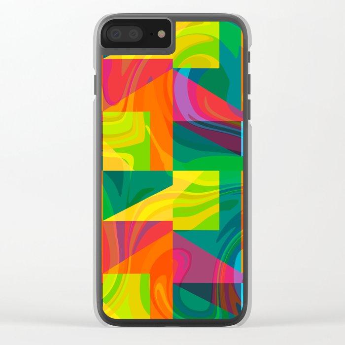 Funky geometric pattern Clear iPhone Case