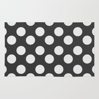polka dots Area & Throw Rugs featuring Polka Dots by NobuDesign