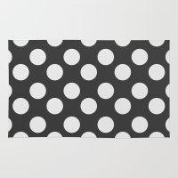 polka dots Area & Throw Rugs featuring Polka Dots by Nobu Design