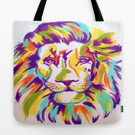 COLORFUL ABSTRACT LION Tote Bag