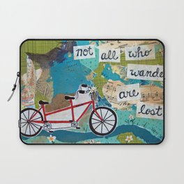 Not all who Wander are Lost - Red Tandem Bicycle Laptop Sleeve