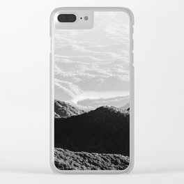 Smoky Mountain Black and White Forest Sunset - 125/365 Clear iPhone Case