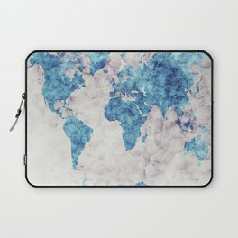 world map 52 blue Laptop Sleeve