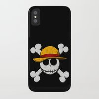 luffy iPhone & iPod Cases featuring Jack Luffy by le.duc