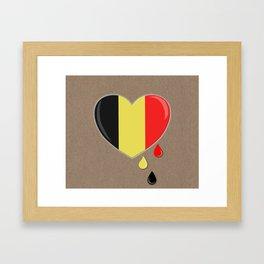 Crying for Belgium Brussels Framed Art Print