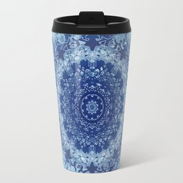 Chambray Anenome Mandala Travel Mug