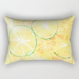 Juicy oranges. Watercolor textured pattern. Rectangular Pillow