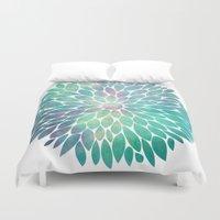 Watercolor Flower Duvet Cover