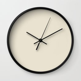 "BABY""S BREATH Neutral solid color Wall Clock"