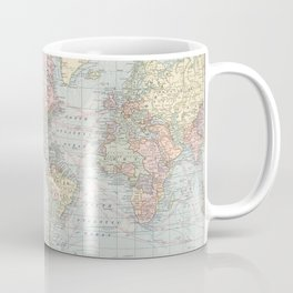 Vintage World Map (1901) Coffee Mug