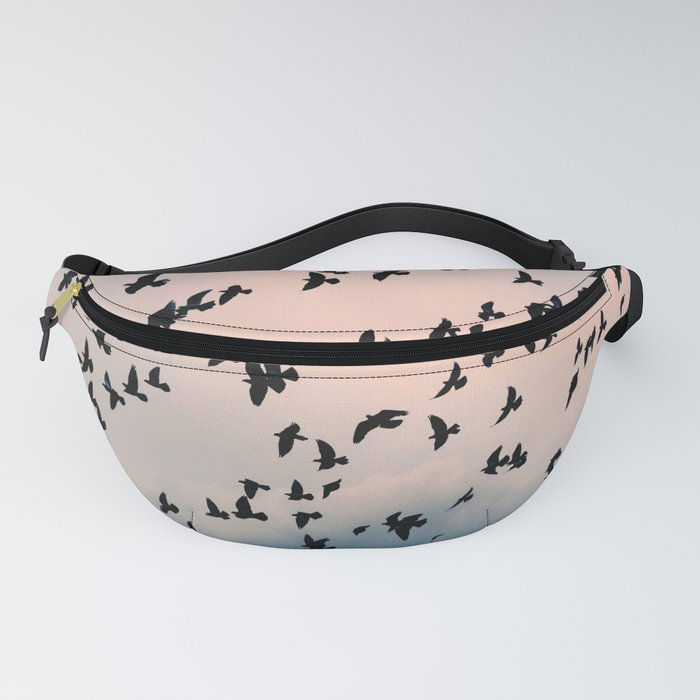Fly Birds Colored Sky Fanny Pack