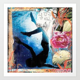 LIVE WELL, My Heart is with the Sea Art Print