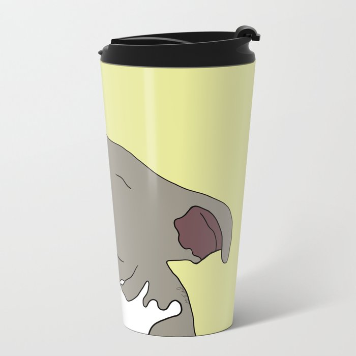 Sunny The Pitbull Puppy Metal Travel Mug