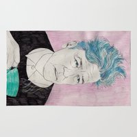 lynch Area & Throw Rugs featuring David Lynch drinking coffee. by Mexican Zebra