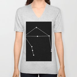 LIBRA (BLACK & WHITE) Unisex V-Neck