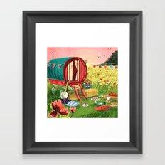 Gypsy Caravan at Sunset Framed Art Print