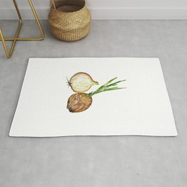 Onion Wall Poster Grass Watercolor Rug