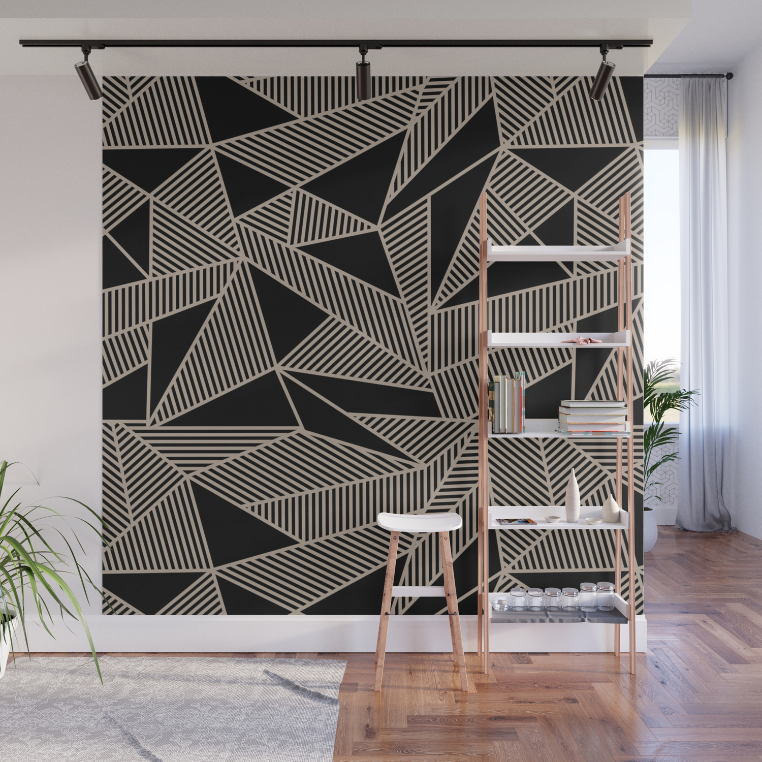 Geometric Abstract Origami Inspired Pattern Wall Mural By Sunnybunny Society6