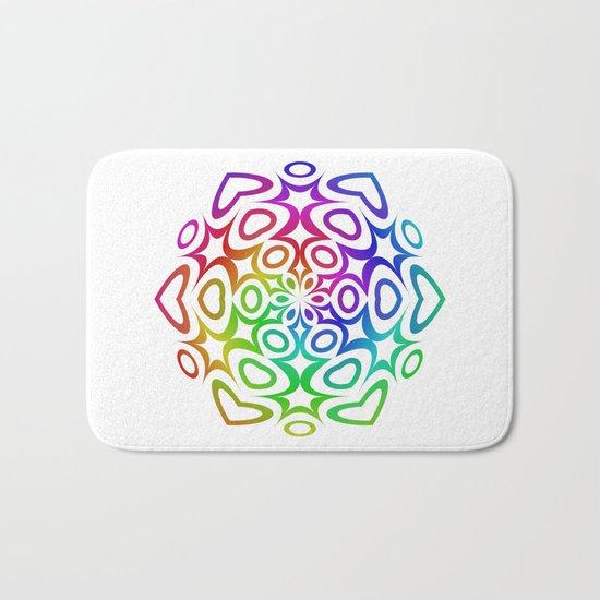 Rainbow ornament Bath Mat