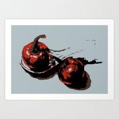 Tomato and red pepper kitchen art print Art Print
