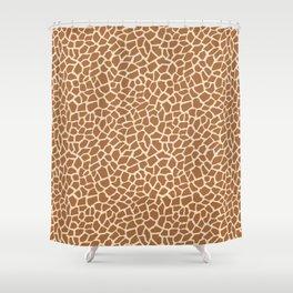 Giraffe Animal Print Pattern Shower Curtain