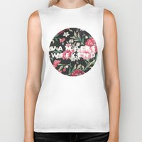 vampire weekend Biker Tanks featuring Vampire Weekend Floral logo by Van de nacht
