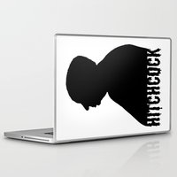 hitchcock Laptop & iPad Skins featuring Alfred Hitchcock by Silvio Ledbetter